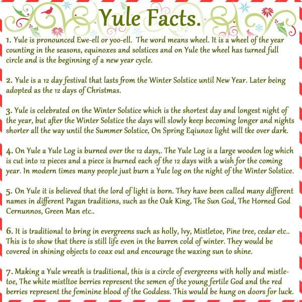 Blessed Yule Written By Lisa Marino